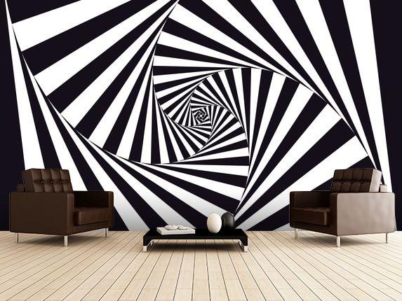 Optical Art Spiral Wallpaper Wallsauce Uk In 2021 Wall Murals Wall Creations Mural