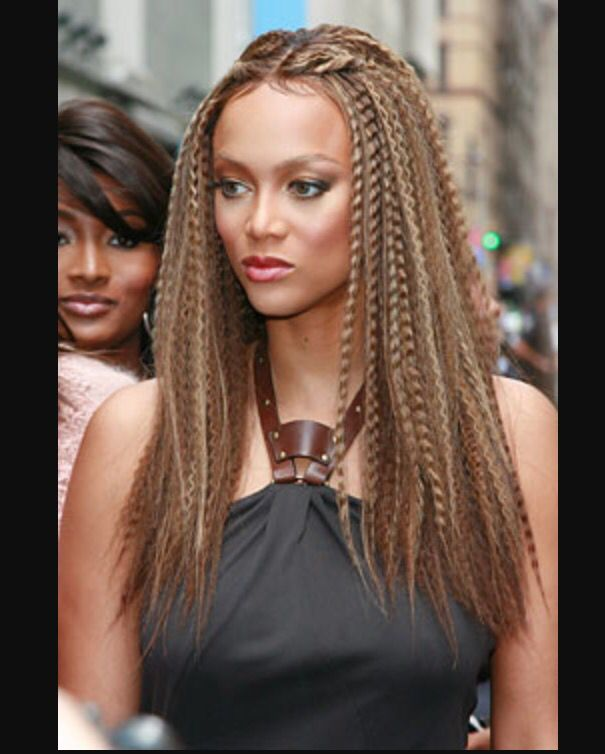 Tyra Banks Updo: Sexy Crimped Hair