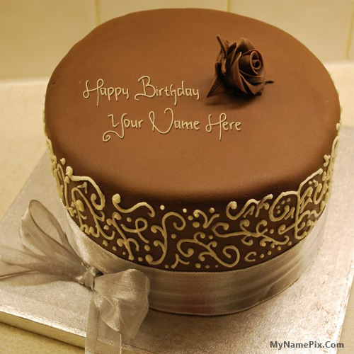 Royal Chocolate Birthday Cake With Name Cake Name ...