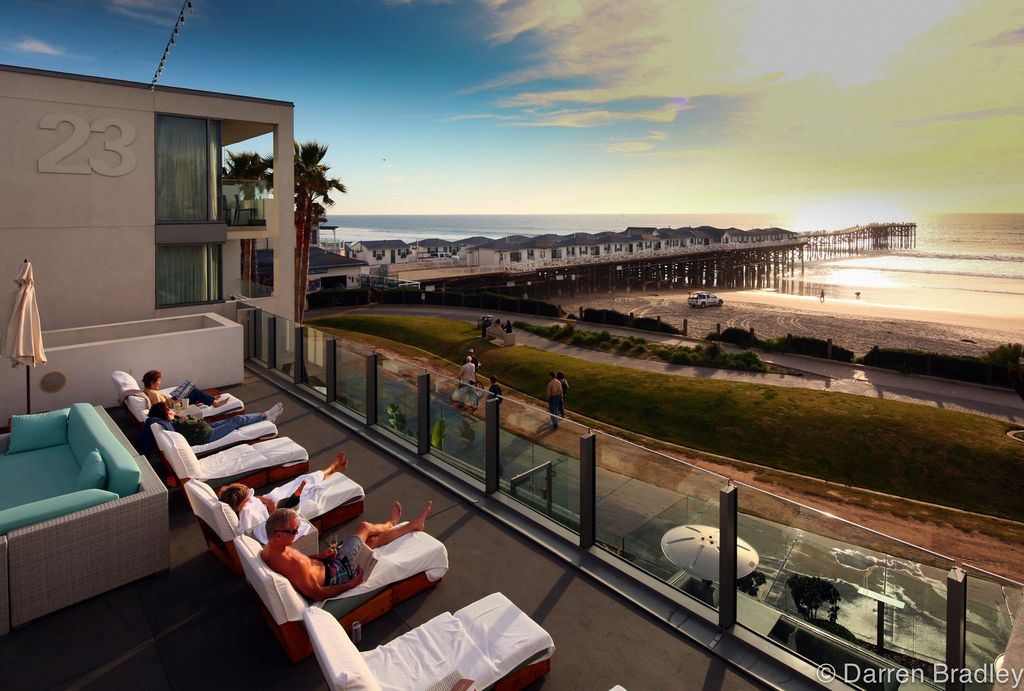 Shot From The Tower 23 Boutique Hotel Architect Graham Downes Location San Go Pacific Beach Ca This Is Down Road My House