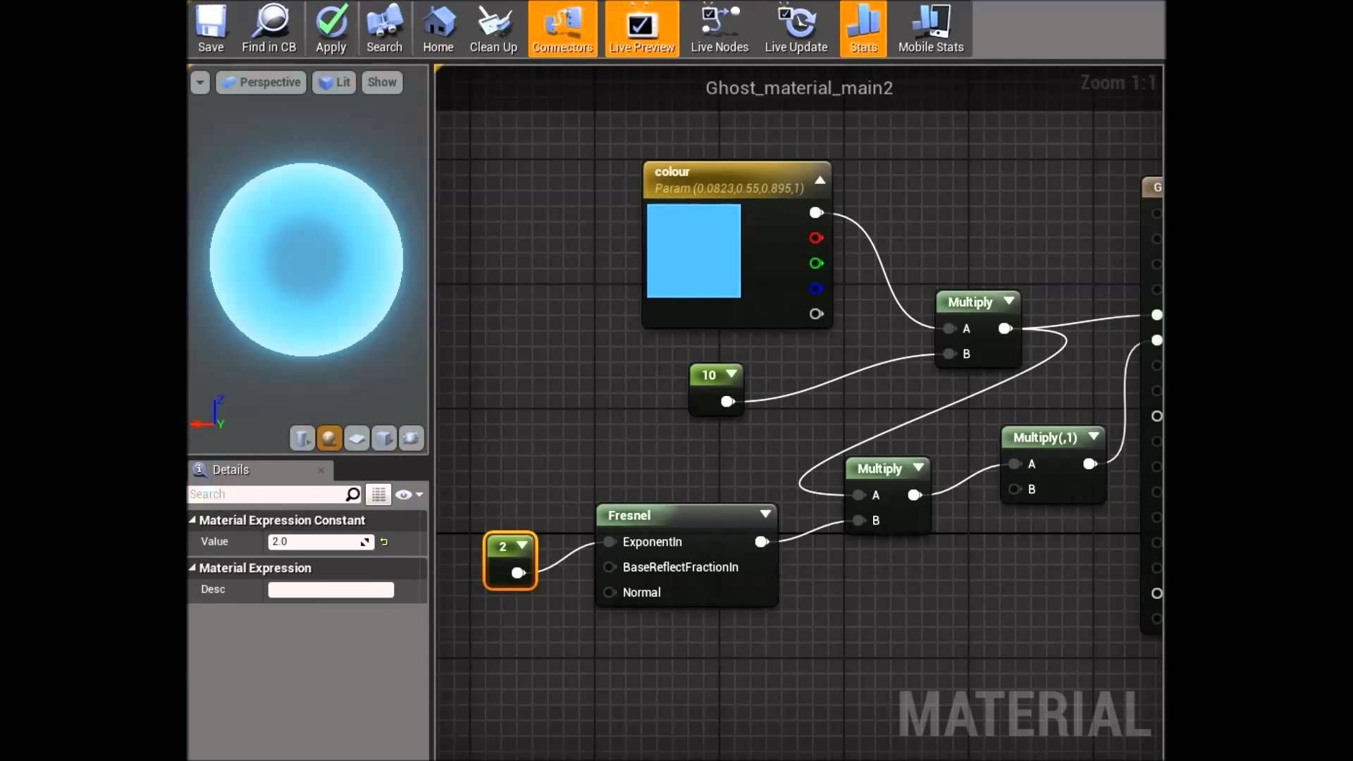 Setting up a ghost material in UE4 (university blog) | 3D Game VFX