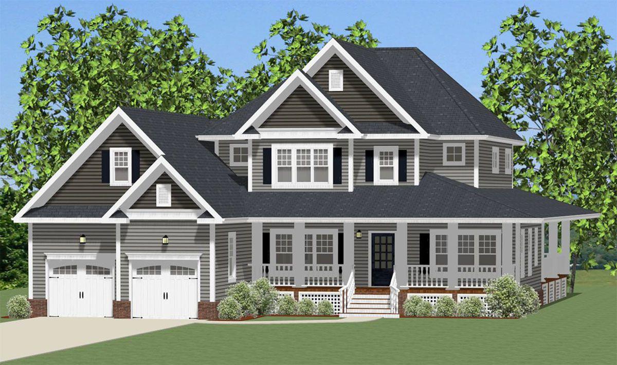 Plan 46295LA: Traditional House Plan with Optional Bonus Room ...