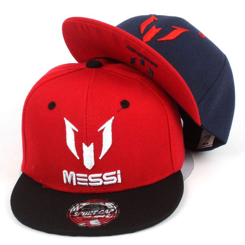 Kids MESSI Embroidery Cotton Snapback Hip Hop Hats Boys Girls Children  Cartoon Baseball Cap Bone d6b3fdf29295