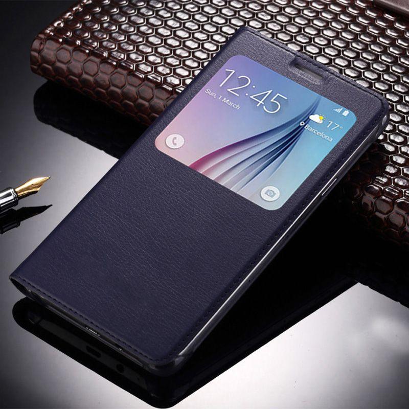 samsung flip phones 2017. for coque samsung 2017 case auto sleep wake window view flip cover galaxy leather cases capas phones