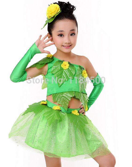 New girls children dance costumes dancewear paso doble jazz chorus modern dance costume Children's Day stage wear CHN06