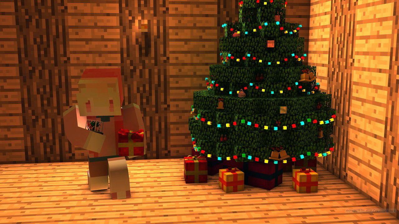Pin By Kathleen Salazar On F San Minecraft Wallpaper Simple Christmas Tree Xmas Tree