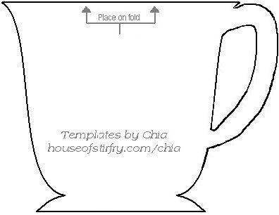 teacup shaped card free template. Use as invitations for a tea ...