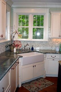 I Love This Tile Backsplash Is Large Sunflower Ming Green Thos Marble Mosaic By Saltillo Tiles