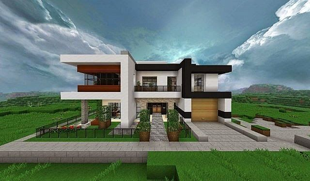 Modern house for Minecraft modern house 9minecraft