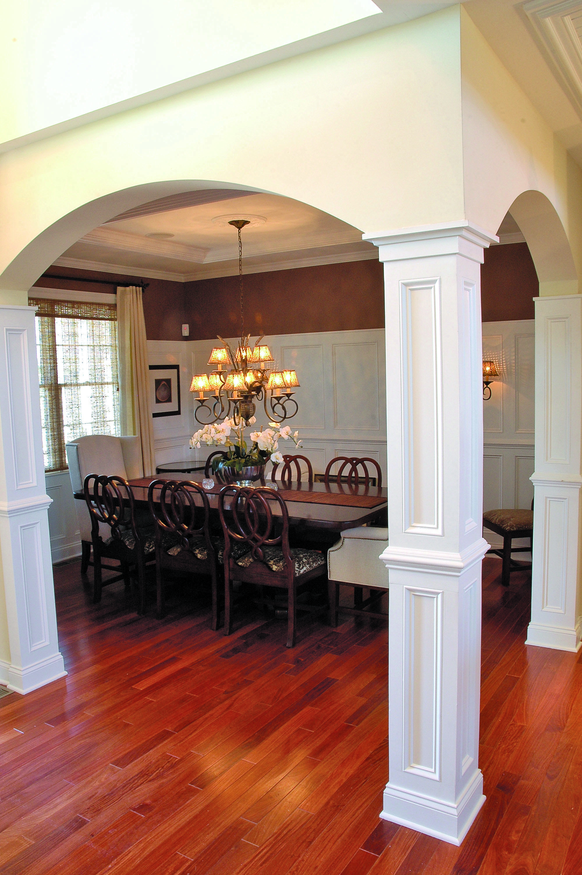 Home Plan The Jerivale By Donald A Gardner Architects Open Dining Room Interior Columns Kitchen Columns