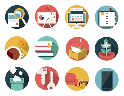 free pack icon for cv psd email education work