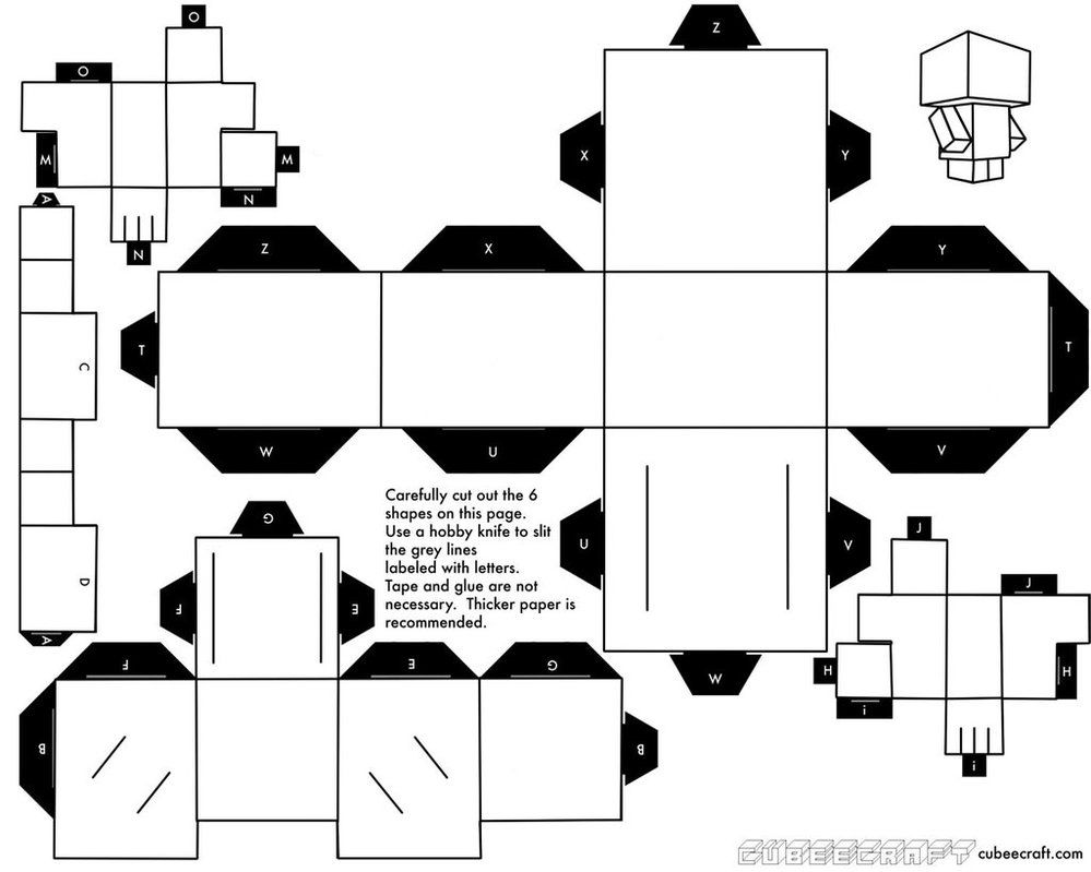 This is a picture of Adaptable Cubee Craft Template