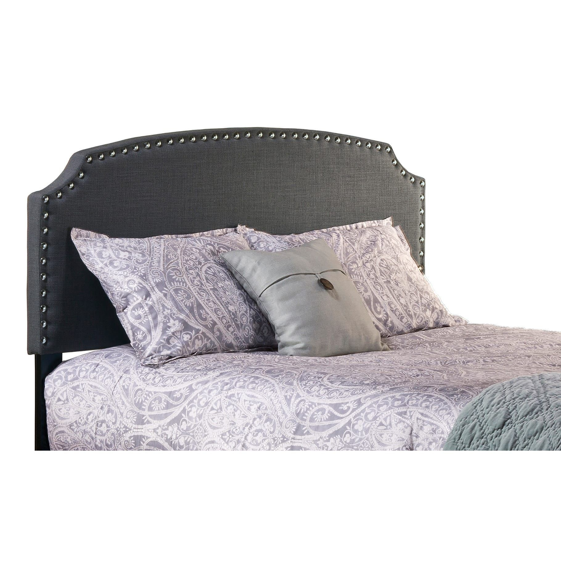 Copper Grove Wurzach King Dark Grey Upholstered Headboard Bed