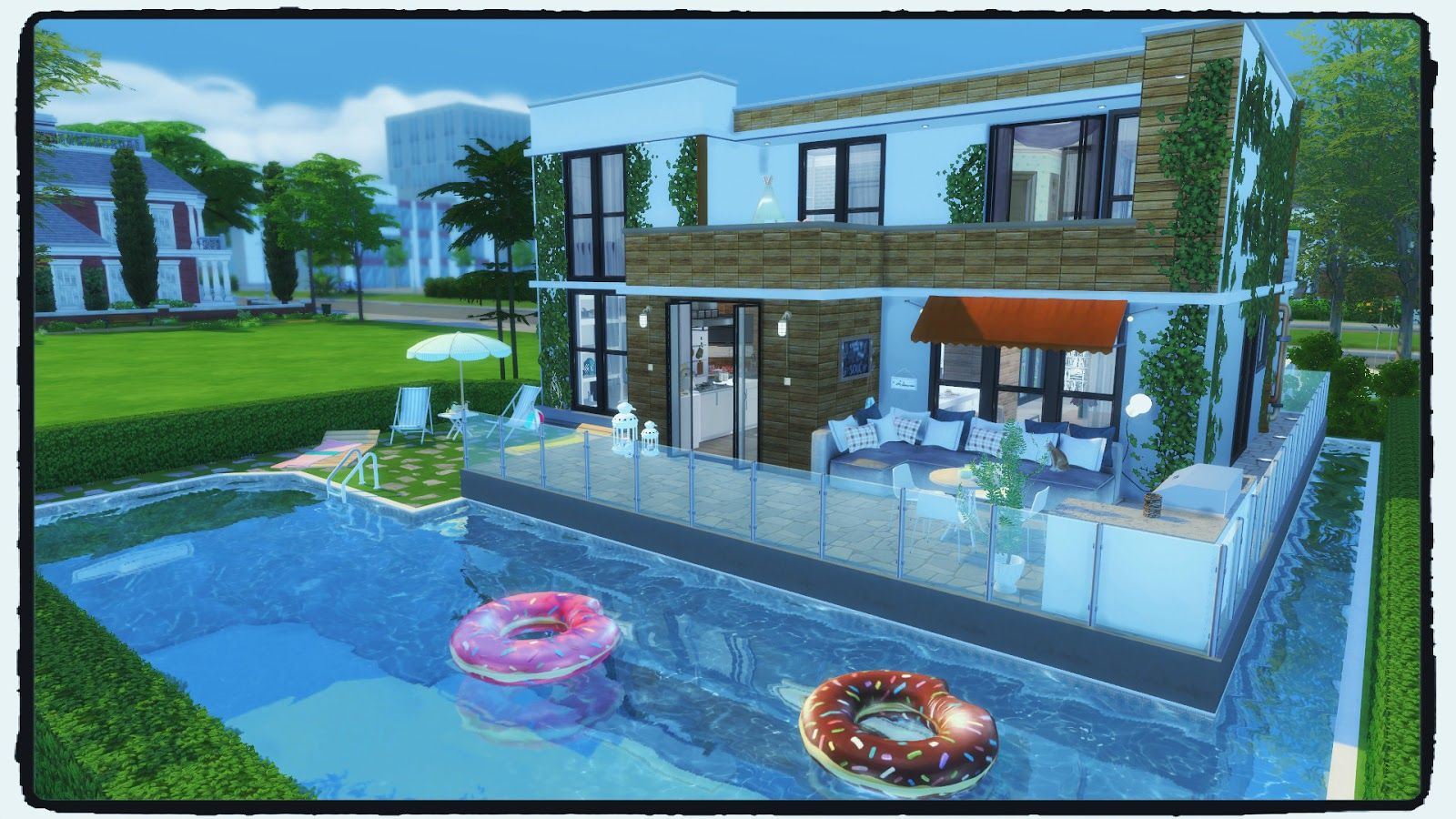 Sims 4 Modern House Building A Pool Build