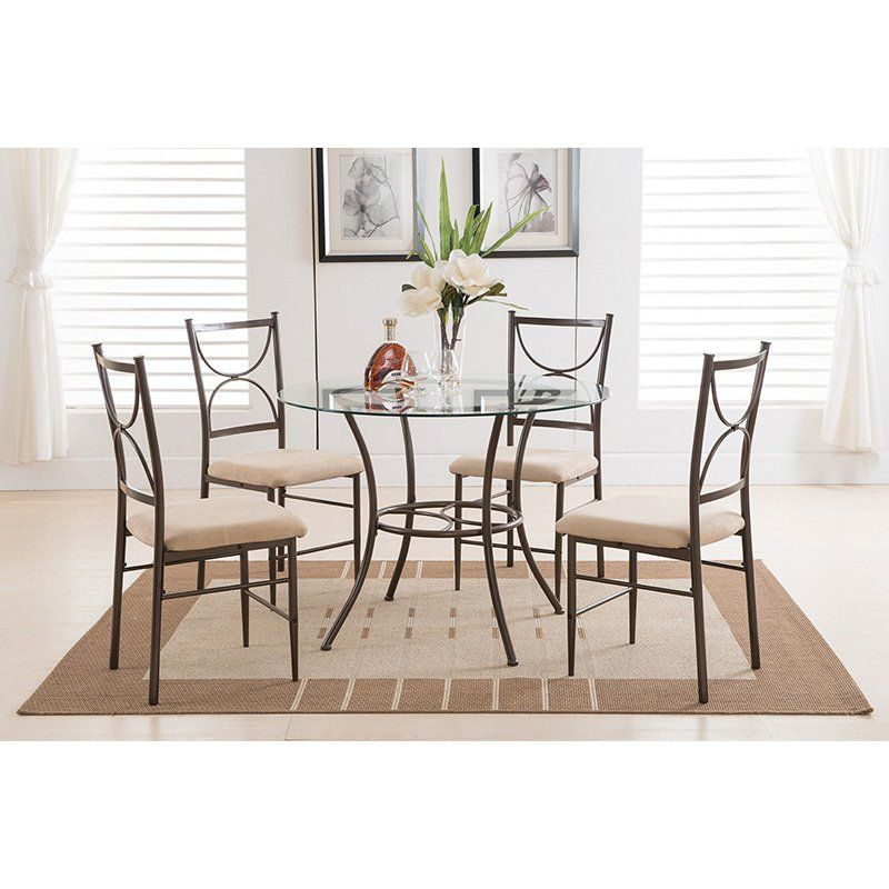 K & B Furniture Everett Dining Chair  Set Of 2  D30362 Pleasing 2 Chair Dining Room Set Design Ideas