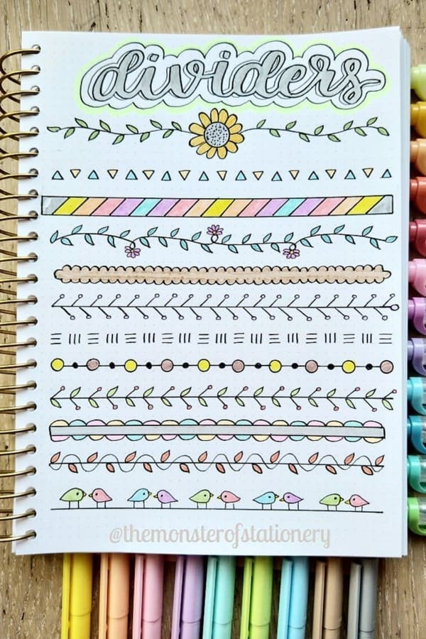 15+ Best Bullet Journal Divider Ideas For 2020 - Crazy Laura