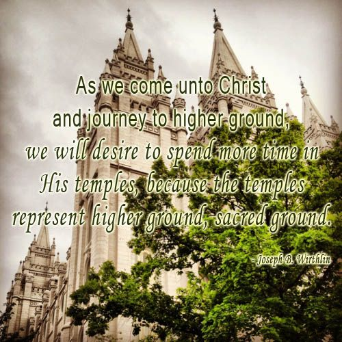 Temples: Spiritual Higher Ground #mormontemple
