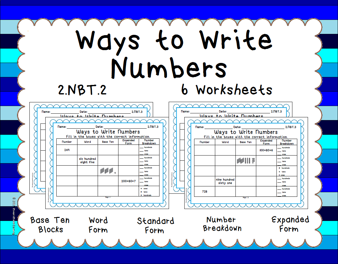 Place Value - Ways to Write Numbers - 2.NBT.3   Math place value [ 864 x 1104 Pixel ]
