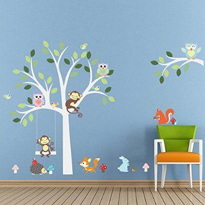 ElecMotive Eule Baum Entfernbare Wandtattoo Wandaufkleber Wall - wandtattoos für wohnzimmer