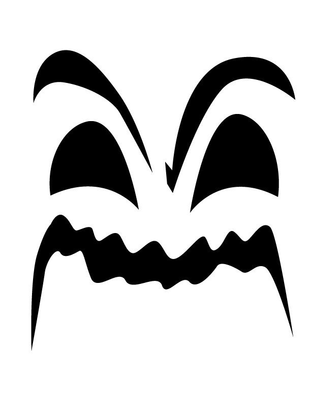 Angry ghost face - Free Printable Coloring Pages | Cupcake ...