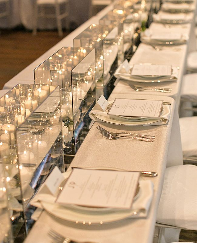 Mirror Table Runner Photography By Vanessa Blog Theknot