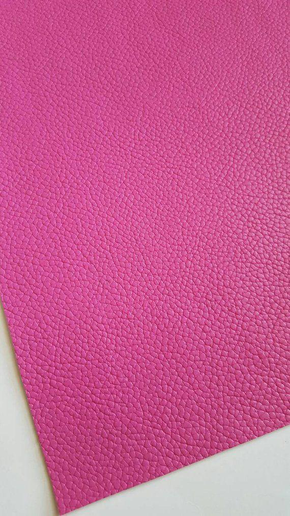 full or 1//2 sheet Hot pink polka dot faux leather sheet vinyl fabric