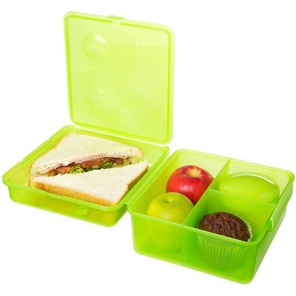 Sistema Solid Green Max Lunch Cube (27 BRL) ❤ liked on Polyvore featuring home, kitchen & dining, food storage containers, green storage containers, freezer safe food storage containers, safe food storage containers, freezer storage containers and freezer food storage containers