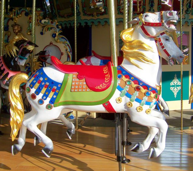 The 1926 Illions Carousel at Worlds of Fun in Kansas City, MO (by Jean Bennett)