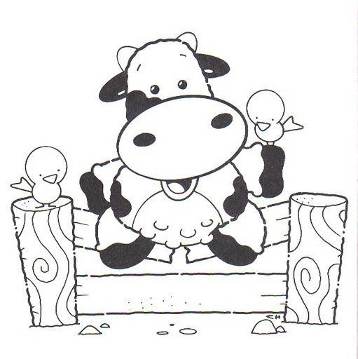 Riscos De Vacas Dancarinas Para Imprimir E Colorir Selos