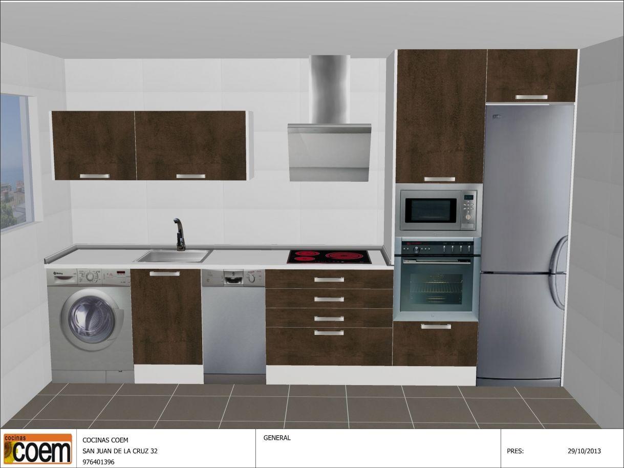 Cocinas Lineales De Cuatro Metros Buscar Con Google: cocina 3 metros lineales