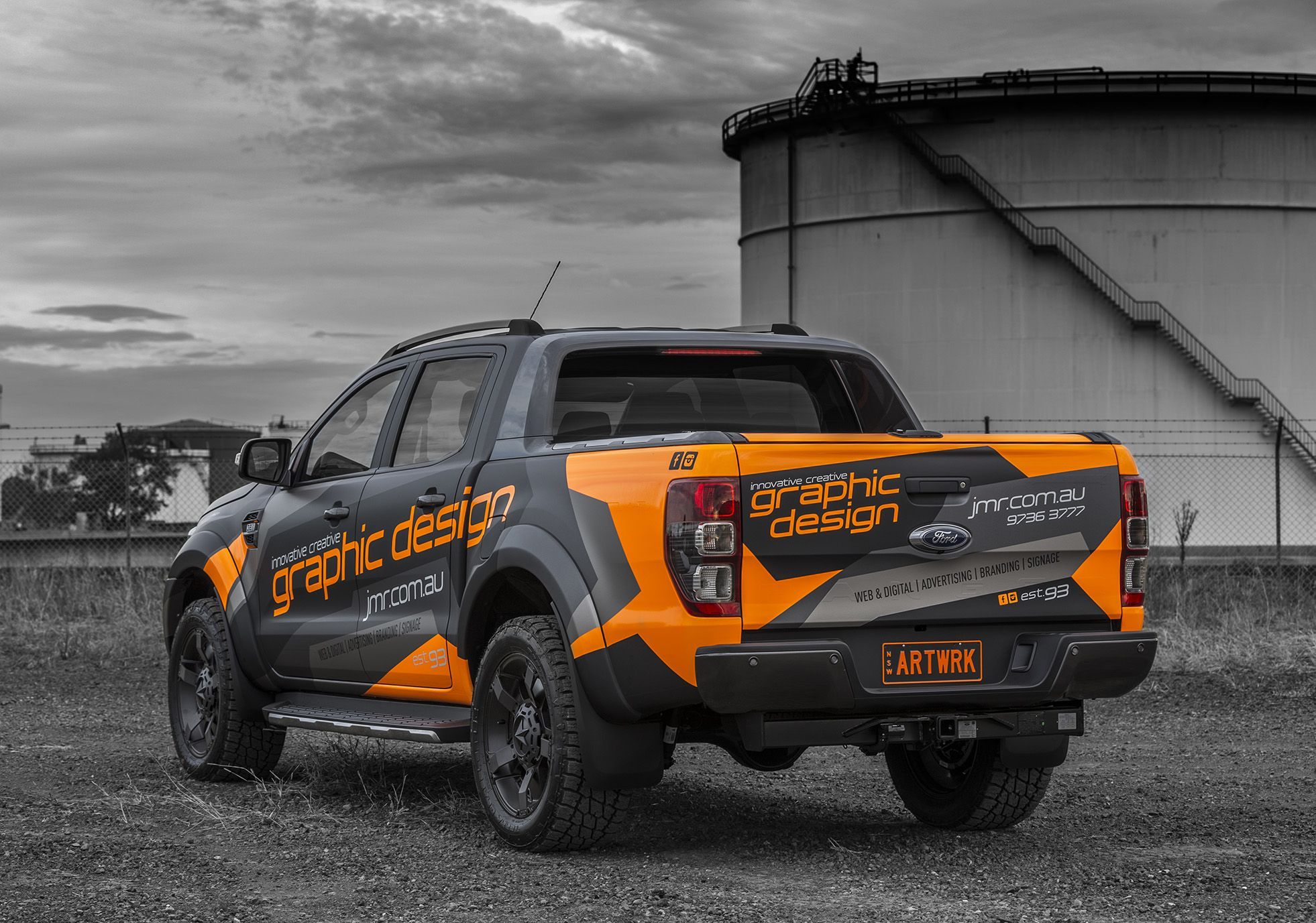 Jmr Creative Design Ford Ranger Wildtrak Wrapped In Matte