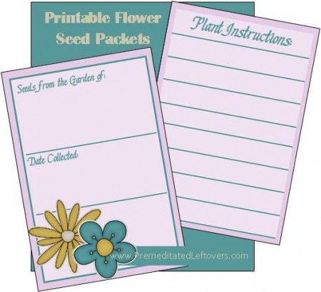images about printable seed packets Seed