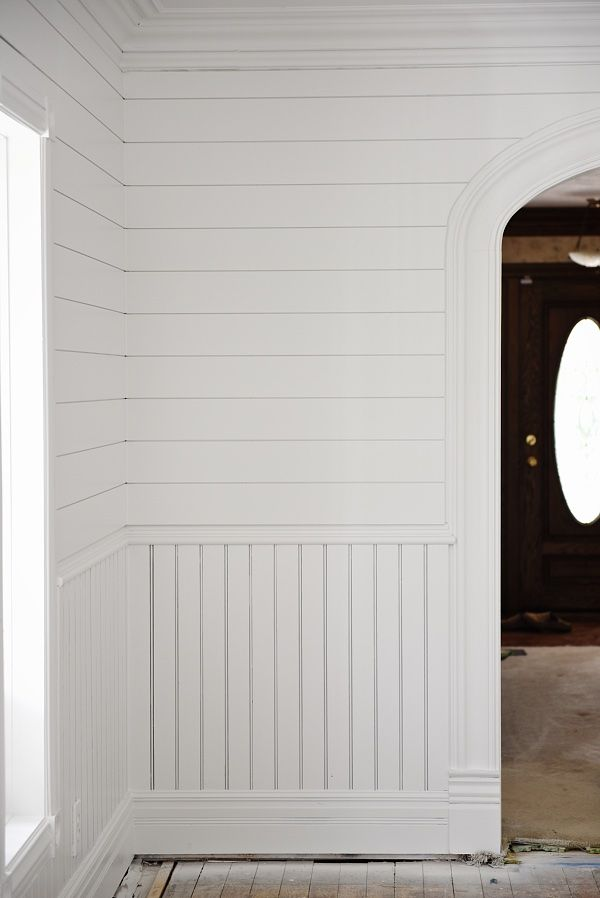 The Dining Room Is Painted Ship Lap Walls Beadboard Shiplap Room