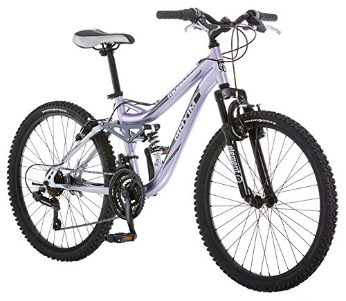 Mongoose Girl S Maxim Full Suspension Bicycle 24 Inch With