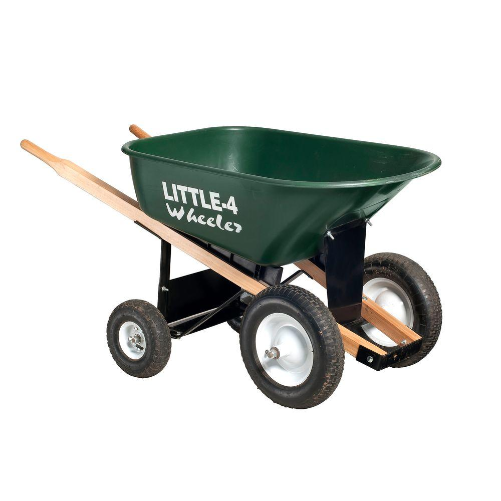 6 Cu Ft Heavy Duty Wheelbarrow B4w 6 The Home Depot Heavy Duty Wheelbarrow Wheelbarrow 4 Wheeler