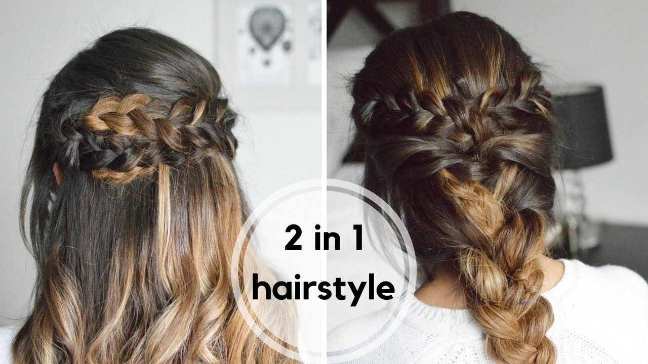Easy Braid Hairstyles Enchanting 2 In 1 Easy Braided Hairstyles  Howto Braids With Hair Extensions