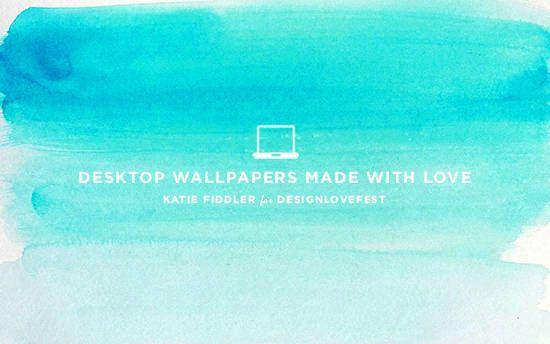 blueombre-designlovefest-download | Wallpaper | Watercolor ...