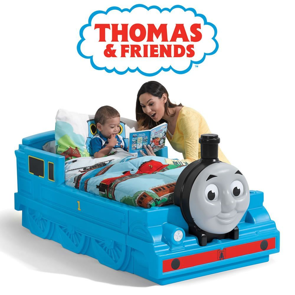 Western Bedroom Tank Toy Box Or: All Aboard For Dreamland In The Step2 Thomas The Train Bed
