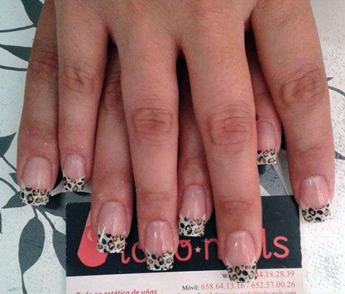 Uñas de leopardo pintadas con pintura acrílica | Diseños ...