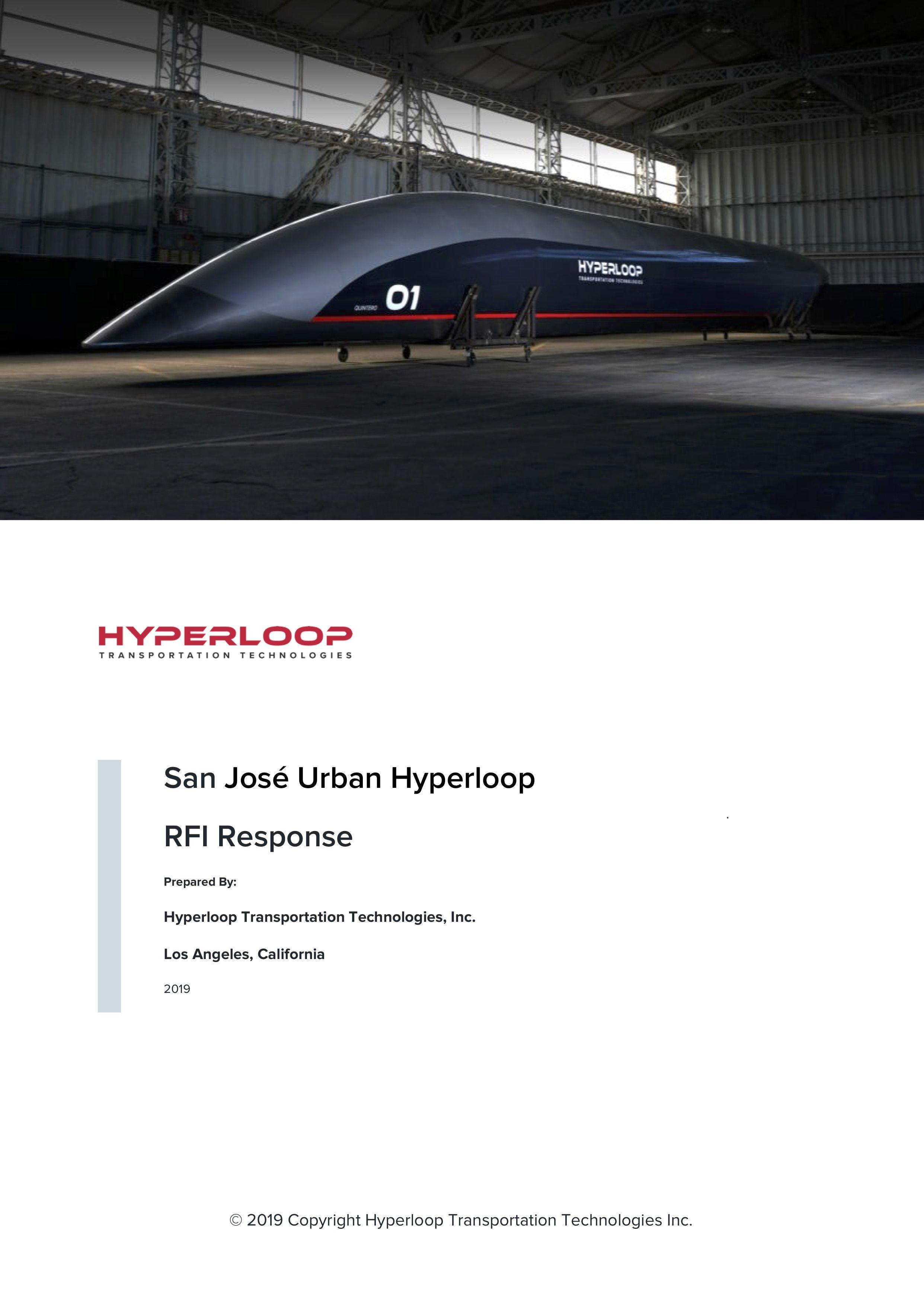 San José Urban Hyperloop RFI Response Prepared By