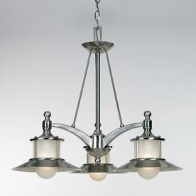 Cascadia Lighting New England 3-Light Brushed Nickel Chandelier