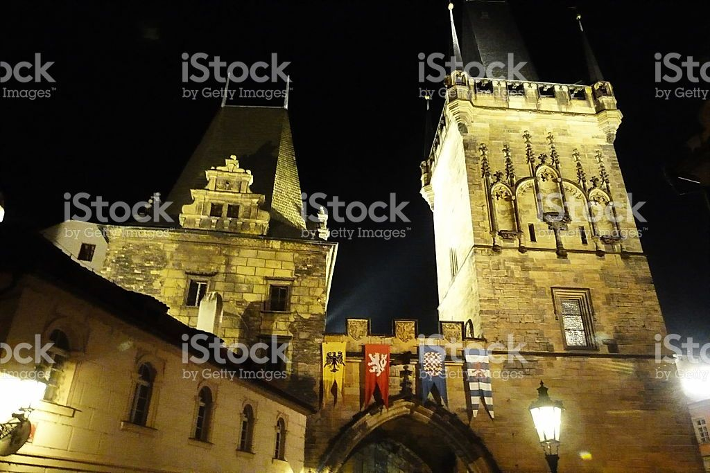 Torre di polvere a Praga foto stock royalty-free