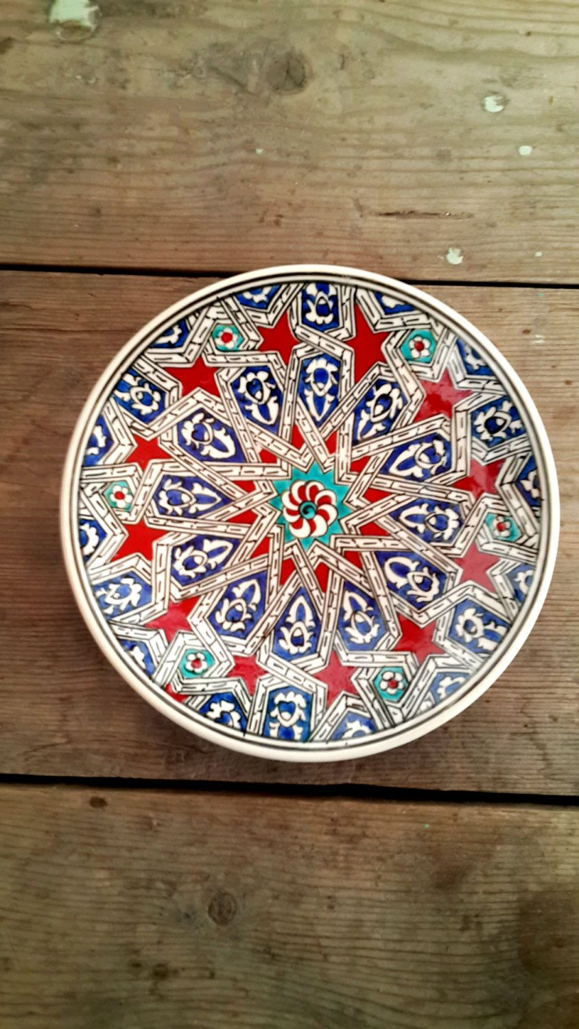 Plates Wall Decor Hand Made Turkish Ceramic Plate Wall Decor By Turqu50 On Etsy