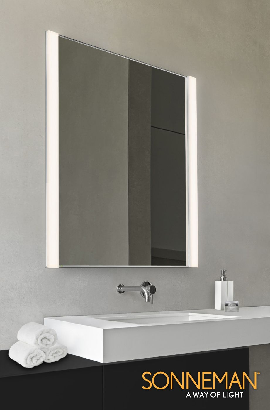 luxury lighting direct. Luxury Lighting Direct - Sonneman Vanity Slim Collection (LED) O