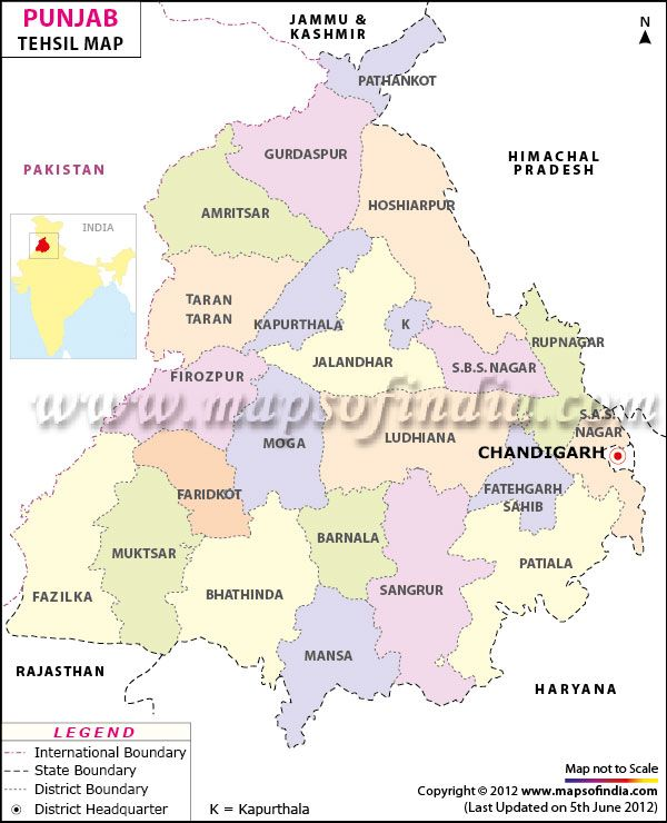 punjab map with districts and cities Tehsil Map Of Punjab Map Punjab Travel Maps punjab map with districts and cities