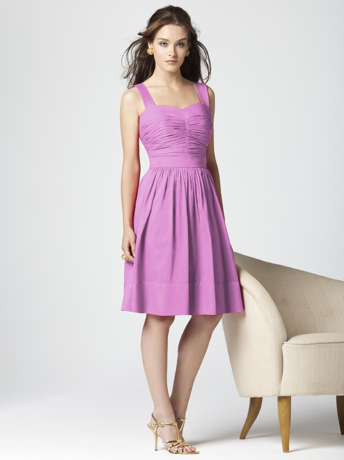 Bridesmaid dress - more casual since it\'s cotton. sweetheart ...