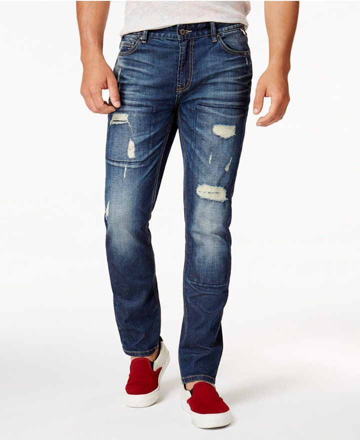 c0acf5aae4d Men's Ripped Stretch Jeans, Created for Macy's | Products | Ripped ...
