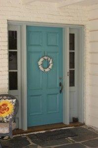 My Front Door In Sherwin Williams Cloud Burst Sw6487