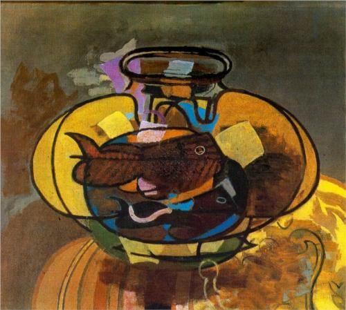 Georges Braque (1882 - 1963) | Expressionism | The Aquarium - 1951