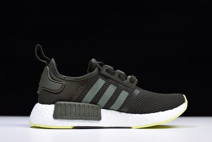 "6e9e288a325 2018 adidas NMD R1 ""Night Cargo"" Base Green-Semi Frozen Yellow CQ2414 –  Sole Adidas"